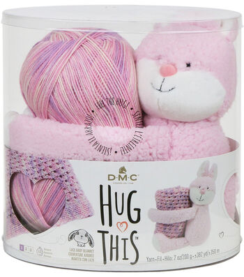 DMC Hug This! Bunny Lace Baby Blanket Yarn Kit