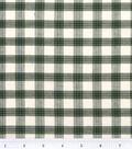 Homespuns Cotton Fabric 44\u0022-Green and White Plaid