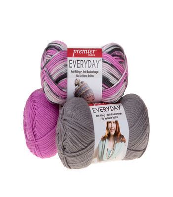 Deborah Norville by Premier Yarns Everyday Soft Worsted Solid Yarn