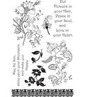Ultimate Crafts Bohemian Bouquet 7 pk Clear Stamps-Flowers in your Hair