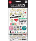 Me & My Big Ideas mambiCHIPS Chipboard Sticker Value Pack-Happy Family
