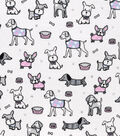 Snuggle Flannel Fabric 42\u0027\u0027-Newborn Puppies