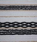 Casa Embellish Dahlia Fabric-Crossover Stripe Sequin on Mesh