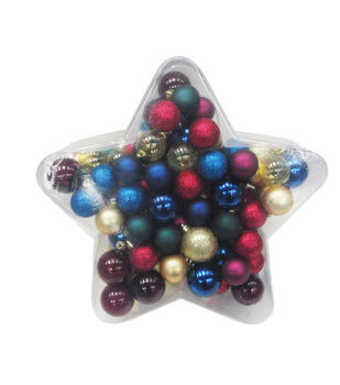 Handmade Holiday Mystical Midnight 100 pk Boxed Shatterproof Ornaments