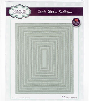 Creative Expressions Craft Dies By Sue Wilson-Double Stitched Rectangles