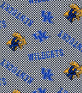 University of Kentucky Wildcats Cotton Fabric 44\u0022-Tossed Check