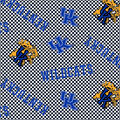 University of Kentucky Wildcats Cotton Fabric -Tossed Check