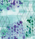 Modern Cotton Fabric -Square Steps