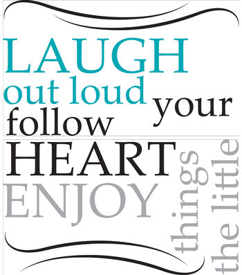 "Wall Pops Laugh Out Loud Wall Quote Decals, 29"" x 13"""