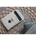 Hoooked Tablet Cover Yarn Kit with RibbonXL-Sandy Ecru