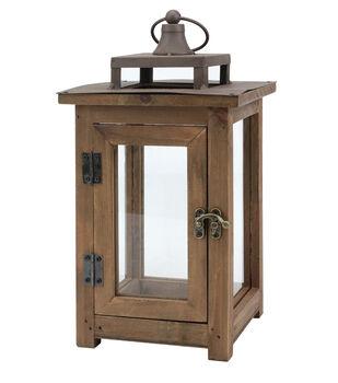 Hudson 43 12'' Wood Lantern