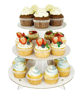 Cupcake Stand With 3 Tiers-White