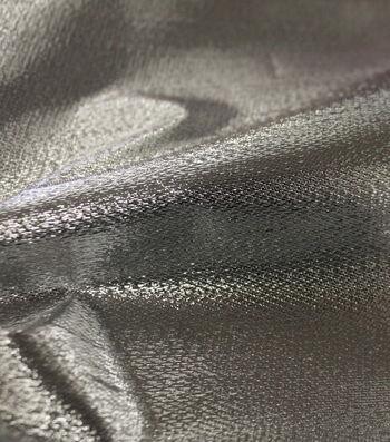Metallic Apparel Lame Fabric 44''-Shiny Silver