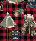 Snuggle Flannel Fabric-Wilderness Pack on Checks