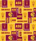 Arizona State University Sun Devils Fleece Fabric 58\u0022-Block
