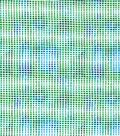 Snuggle Flannel Print Fabric -Green Blue Block Lines
