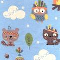Snuggle Flannel Fabric -Tribal Animals