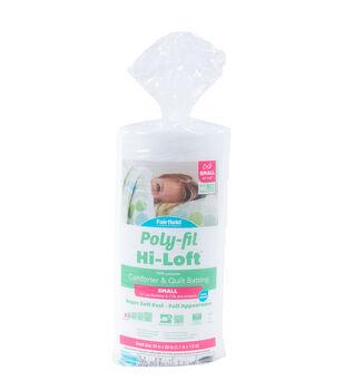 "Poly-Fil Hi-Loft Crib Size 45""x60"" 100% Bonded Polyester Batting"
