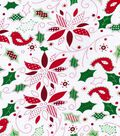 Holiday Cotton Fabric -Holly