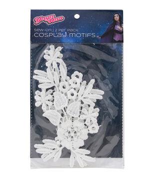 Yaya Han 2 pk 3''x5'' Lace Guipure Sew-on Cosplay Motifs-White