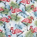 Anti-Pill Plush Fleece Fabric-Flamingo Holiday