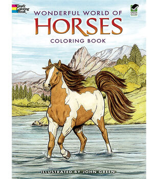 Adult Coloring Book Dover Publications Wonderful World Of Horses