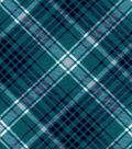 Snuggle Flannel Fabric -Kate Biscay & Navy Plaid