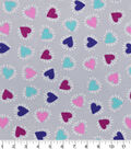 Snuggle Flannel Fabric -Heart Bursts