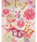No Sew Fleece Throw-Butterfly Floral