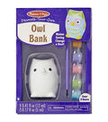Melissa & Doug Decorate-Your-Own Owl Bank Craft Kit