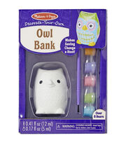 Melissa & Doug Decorate-Your-Own Owl Bank Craft Kit, , hi-res