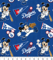 Los Angeles Dodgers Cotton Fabric-Mickey, , hi-res