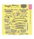Waffle Flower 22 pk Clear Stamps-Yippee