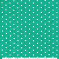 Snuggle Flannel Fabric-White Dots on Atlantis