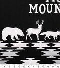 Nursery Panel -Black & White Logan Move Mountains