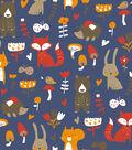 Snuggle Flannel Fabric 42\u0022-Whimsical Woodland