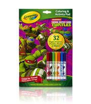 Crayola Coloring And Activity Pad W/Markers-Teenage Mutant Ninja Turtles, , hi-res