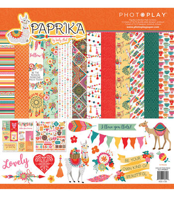 Photoplay Paper Paprika 12''x12'' Collection Pack