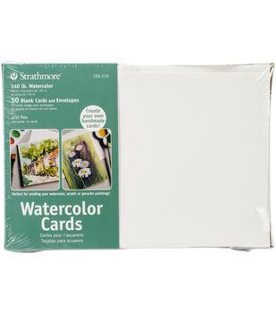 "Strathmore Cards & Envelopes 5""X6.875"" 50/Pkg-Watercolor"