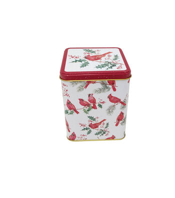 Maker's Holiday Christmas Large Square Canister-Cardinal