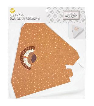 Wilton Simply Autumn Slice Pie Box-Polka Dot Gobble Gobble