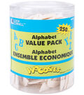 Loew-Cornell 1-9/16\u0022 Wood Alphabet Value Tub-250PK