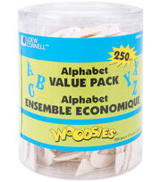 "Loew-Cornell 1-9/16"" Wood Alphabet Value Tub-250PK, , hi-res"