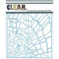 Clear Scraps 6\u0027\u0027x6\u0027\u0027 Plastic Stencil-Shattered Glass