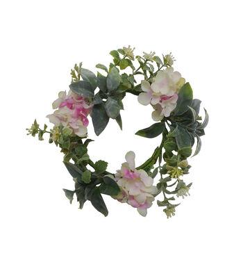 Fresh Picked Spring Lambs Ear & Hydrangea Mini Wreath