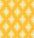 Quilter\u0027s Showcase Fabric 44\u0027\u0027-Amber Yellow Aztec Geometric