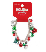 hildie & jo Christmas Holiday Jewelry Bell Charms Bracelet, , hi-res