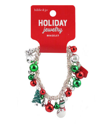 hildie & jo Christmas Holiday Jewelry Bell Charms Bracelet