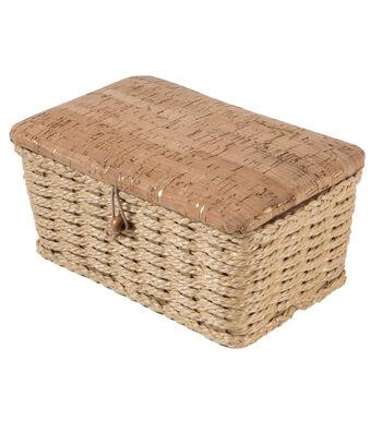 Sewing Basket X-Small Rectangle-Cork Natural