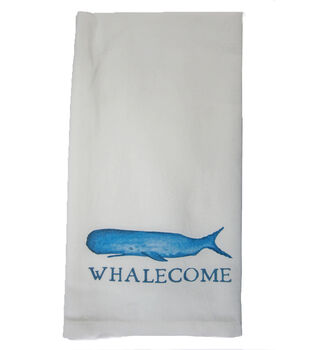 Indigo Mist Whalecome Towel